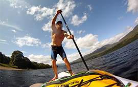 SUP Loch Tay solo (2014)