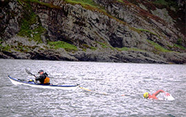 Swim across Corryvreckan Gulf (2011)