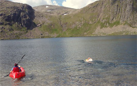 Swim UK's highest loch/lake (2012)